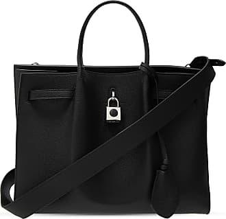 Lanvin Bogey Leather Shoulder Bag Womens Black