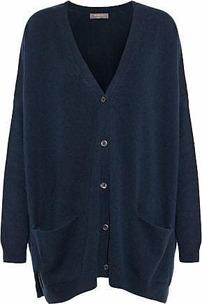 N.Peal N.peal Woman Oversized Cashmere Cardigan Storm Blue Size XL