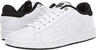 K-Swiss Mens Clean Court CMF Sneaker White/Caviar 7 M US