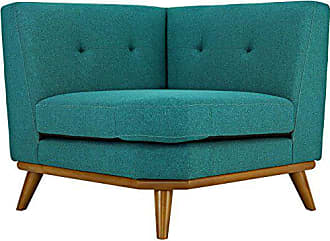 ModWay Modway Engage Mid-Century Modern Upholstered Fabric Corner Sofa In Teal