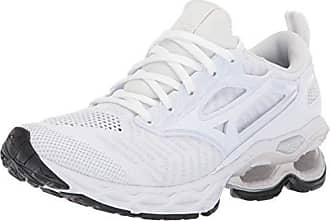10df39bbd429 Mizuno Womens Wave Creation 20 Knit Running Shoe, White, 10.5 B US