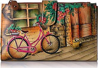 367c6d360 Anuschka Handpainted Leather Large Smartphonecase & Wallet-vintage Bike  Wallet, VINTAGE BIKE, One