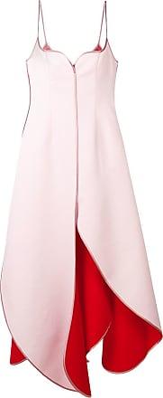 Y / Project Vestido com forro contrastante - Rosa