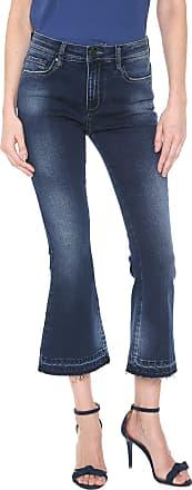 Zoomp Calça Jeans Zoomp Cropped Flare Tati Azul