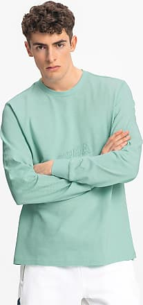 Puma Bounce Long Sleeve Mens Basketball T-Shirt, Mist Green, size 2X Large, Clothing