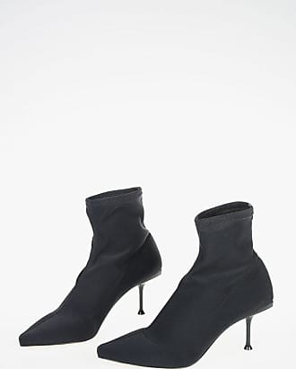 Sergio Rossi 7,5cm Pull On SELVA Fabric Booties size 40