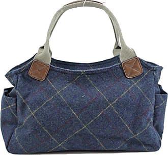 Your Dezire Womens Designer Office Tweed Tote Bag Ladies Shoulder Handbag Work New UK Navy