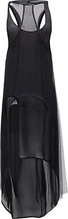 Ann Demeulemeester Meryl Layered Crepe And Mesh Dress - Womens - Black