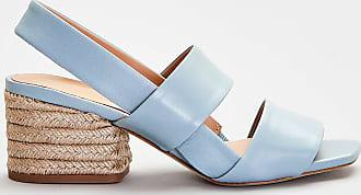 Paloma Barceló Paloma barcelo - sandalo in pelle dettagli corda -azzurro