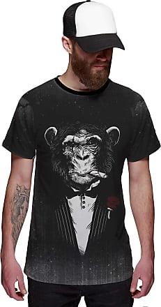 Di Nuevo Camiseta Macaco de Terno Estiloso