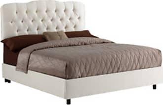 Skyline Furniture Tufted II Velvet Upholstered Bed Velvet-Aubergine Purple, Size: Queen - 742BED-Q-VELVT-AUBRG