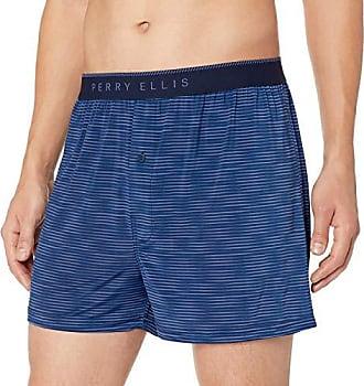 d33f71cec514 Perry Ellis Mens Spacedye Luxe Boxer Short, Navy Coastal f jord, XL