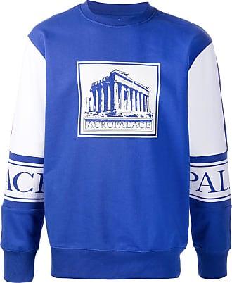 Palace Moletom decote careca Acropalace - Azul