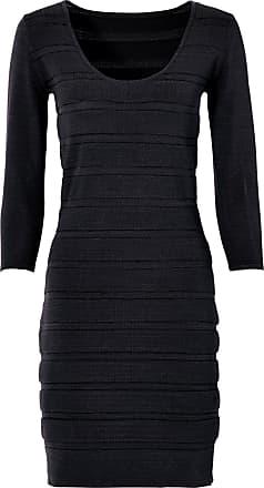 469a2ed26b30 Bodyflirt Bonprix - robe dété Robe en maille noir manches 3 4 pour femme