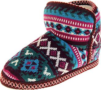 Footwear Studio Dunlop Womens Burgundy Green Short Slipper Boots UK 7-8