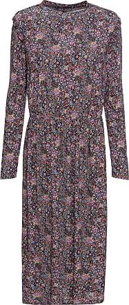 4dfe84c3566 Bonprix Dam Mellanlång mönstrad klänning i svart lång ärm - RAINBOW