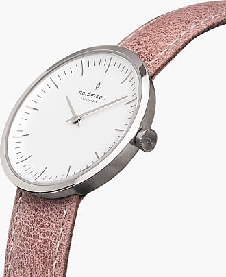 Nordgreen Infinity - Silver | Pink Leather - 32mm / Silver