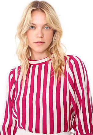 Vero Moda Blusa Vero Moda Listrada Rosa/Bege