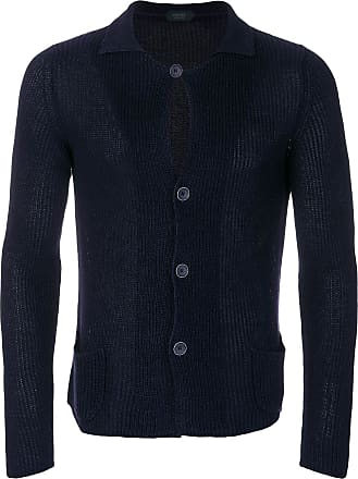 Zanone buttoned cardigan - Blue