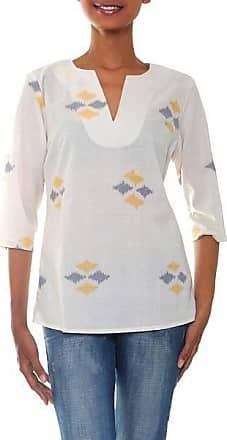 Novica Cotton tunic, Ikat Chic