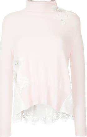 Onefifteen Suéter de cashmere com patch de renda floral - Rosa