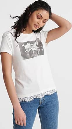 Superdry T-shirt con disegno Tilly in pizzo