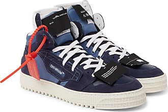 Off-white 3.0 Off-court Suede, Leather And Canvas High-top Sneakers - Blue