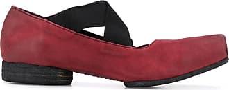 Uma Wang square toe ballerina shoes - Red