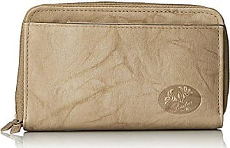 Buxton Womens Heiress Double Zip Organizer, Taupe, One Size