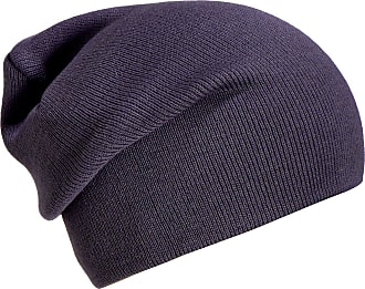 DonDon winter hat slouch beanie warm classical design modern and soft grey purple