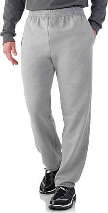 Fruit Of The Loom Mens Elastic Bottom Sweatpant - Steel Grey Heather (X-Large (Waist 40-42))