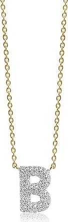 Sif Jakobs Jewellery Necklace Novoli B - 18k gold plated with white zirconia
