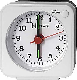 Uhren Herweg Despertador Branco e Preto Herweg Pequeno com luz 2510 021