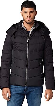 Tom Tailor Mens Funktionale Puffer Jacket, Black, L
