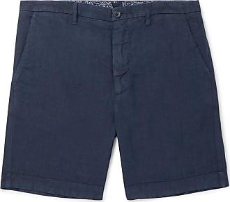120% CASHMERE Slim-fit Linen Shorts - Navy