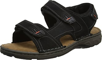 Padders Mens Ocean Open Toe Sandals, Black Black, 11 UK 46 EU
