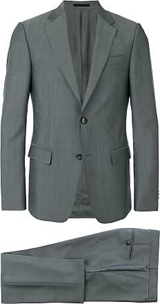 Ermenegildo Zegna slim sharkskin suit - Grey