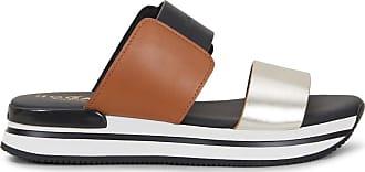 Hogan Slide-Sandalen H222, GOLD,BRAUN,SCHWARZ, 35.5 - Schuhe