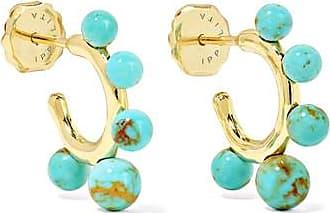 Ippolita Nova Teeny 18-karat Gold Turquoise Hoop Earrings