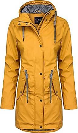 Regenjacke Damen gelb Gr 44 Wetterjacke Regenmantel wasserdicht Funktionsjacke