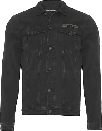Replay JAQUETA MASCULINA BLACK TRUCKER PATCHS - PRETO