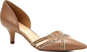 2bb6e6e539 Shoestock Scarpin Couro Shoestock Salto Baixo Cravos - Feminino