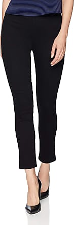 NYDJ womensPull on Skinny Ankle Jean with Side Slit Jeans - Black - 12