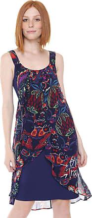 688f2621536 Desigual Vestido Desigual Curto Valkiria Lorna Azul-Marinho