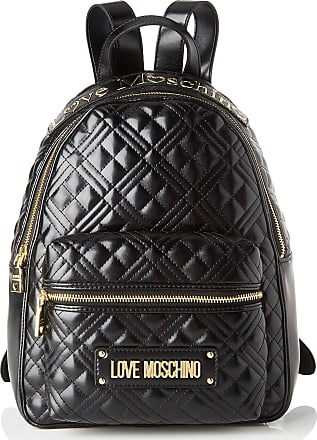 Love Moschino Womens Jc4204pp0a School Backpacks, Black (Black Quilted), 13x33x27 Centimeters (W x H x L)