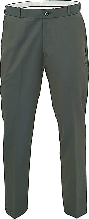 Relco Mens Classic Green Tonic Stay Press Trousers Size 32