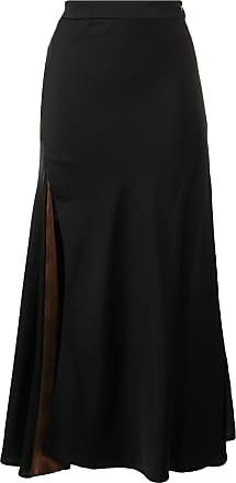 Ellery side slit A-line skirt - Preto