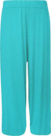 Generic WOMEN LADIES CASUAL WIDE LEG FLARED PLAIN PALAZZO TROUSERS PANTS PLUS SIZE 8-26 (M/L (12-14), Turquoise)