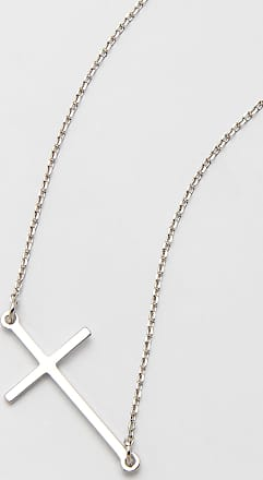 Maurices Dainty Silvertone Sideways Cross Necklace