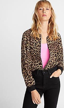 Icone Patterned crepe bomber jacket